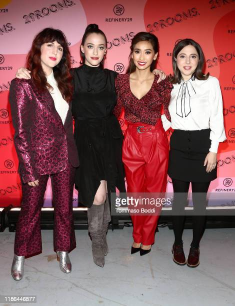 Refinery29 Cofounder and Executive Creative Director Piera Gelardi Kat Dennings Brenda Song and Esther Povitsky attend Refinery29's 29Rooms Los...