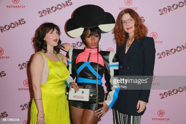 Refinery29 Executive Creative Director and CoFounder Piera Gelardi 29Rooms Collaborator Janelle Monae and Refinery29 Global EditorinChief and...