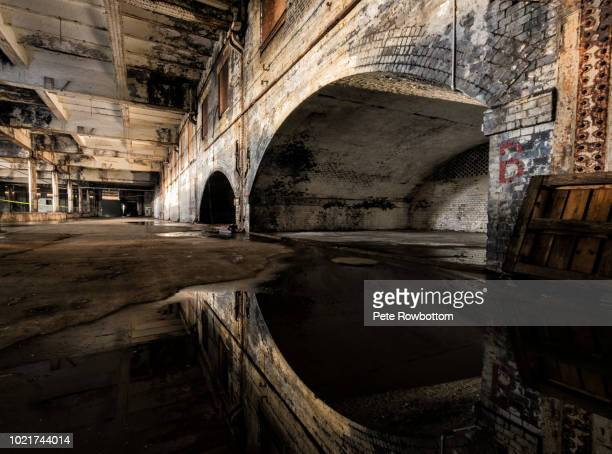 reflected arches - abandoned stock pictures, royalty-free photos & images