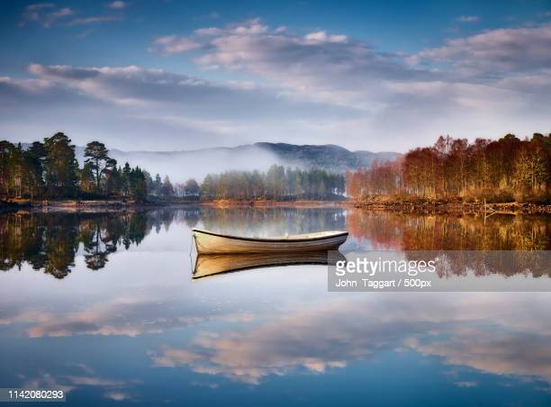 reflected boat - inverness scotland stock pictures, royalty-free photos & images