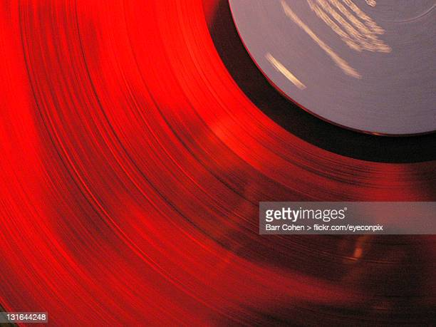 Reflected off spinning red record