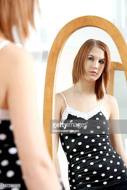 reflected - full length mirror stock photos and pictures