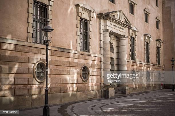 Sich Sonnenlicht auf Gericht house Kopenhagen, Dänemark
