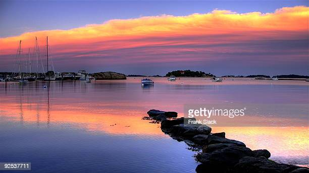 reflected sunset - connecticut stock pictures, royalty-free photos & images