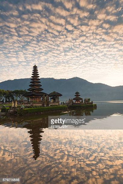 Reflecting of Pura Ulun Danu Bratan Temple