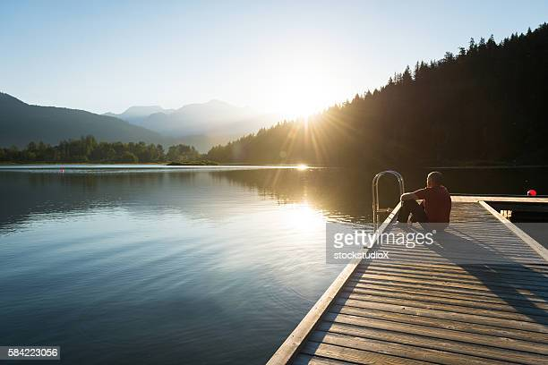 reflecting on life - whistler british columbia stock pictures, royalty-free photos & images