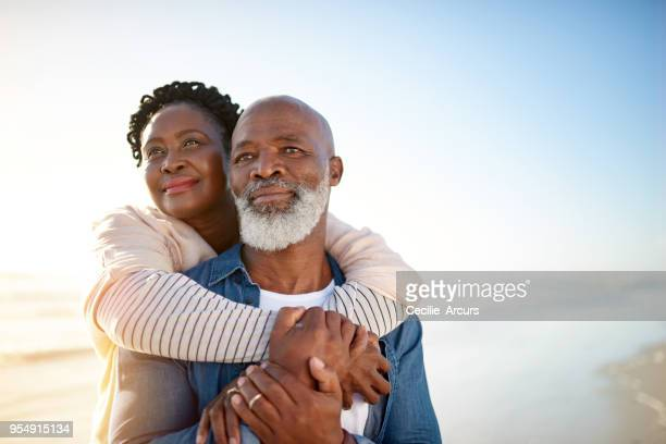 reflecting on their journey together so far - contemplation couple stock pictures, royalty-free photos & images