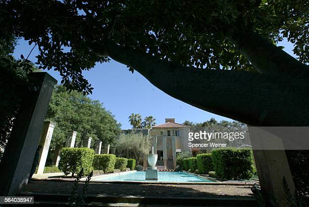 Reflecting pool off what used to be the main entrance at Val Verde estate in Montecito The estate has been locked in a legal battle that has...