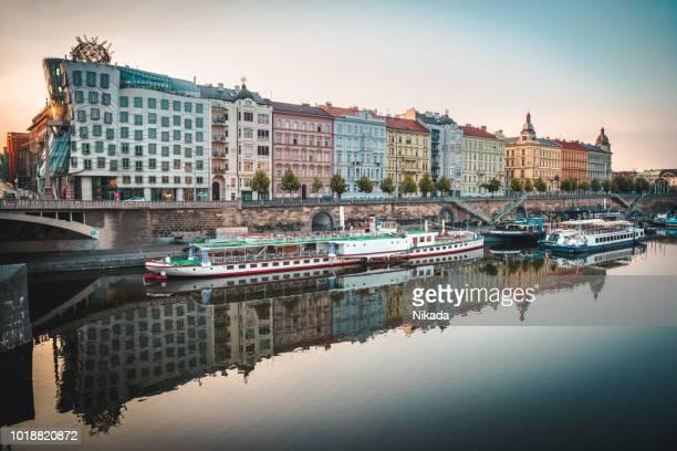 Reflecting Skyline of Prague, Czech Republic