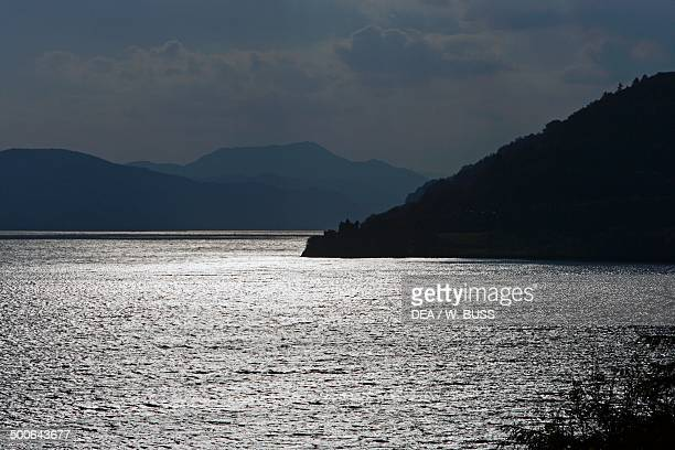 Reflecting waters of Loch Ness Highlands Scotland United Kingdom