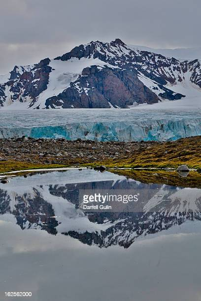 Reflection 14th July Glaicer, Spitsbergen Norway