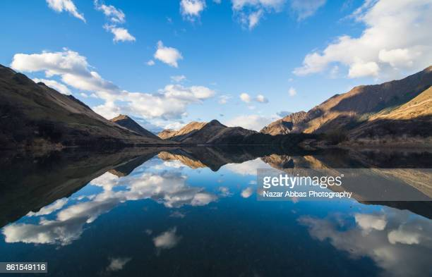 Reflection at Lake Moke, Queenstown, South Island, New Zealand.