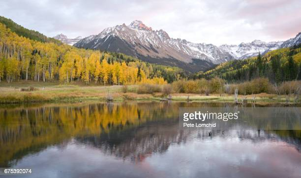 Reflection autumn sneffle mountain autumn Colorado