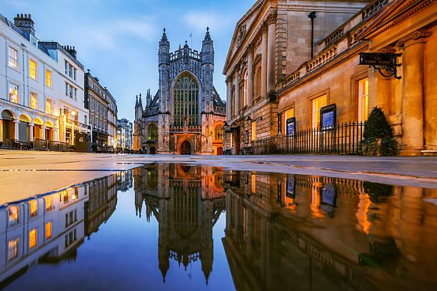 Reflection, Bath Abbey, Roman Baths, Somerset Wall Art