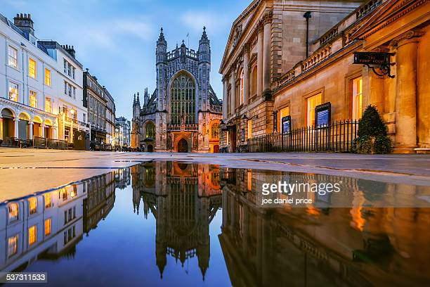 Reflection, Bath Abbey, Roman Baths, Somerset