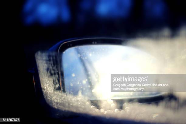 Reflection In Car Side Mirror