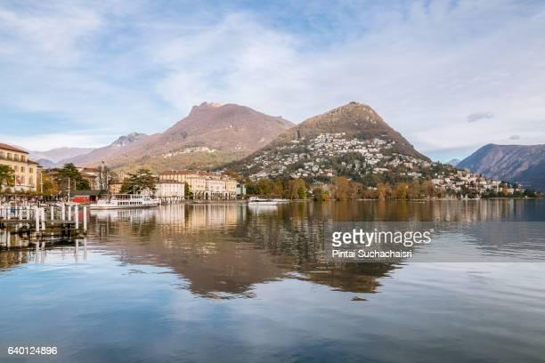 Reflection in Lake Lugano, Switzerland