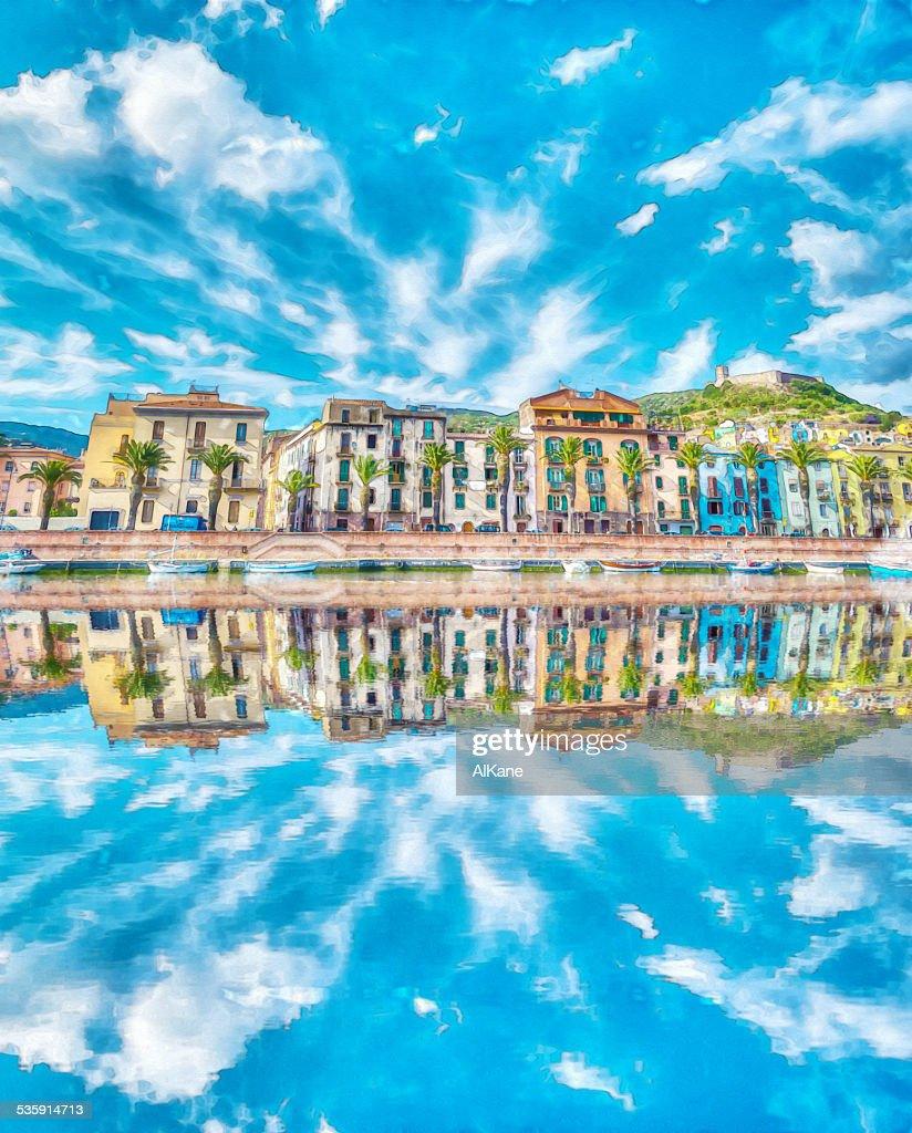 Reflejo en Temo río : Foto de stock