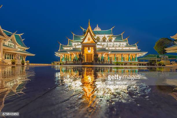 Reflection in water of Thai Temple