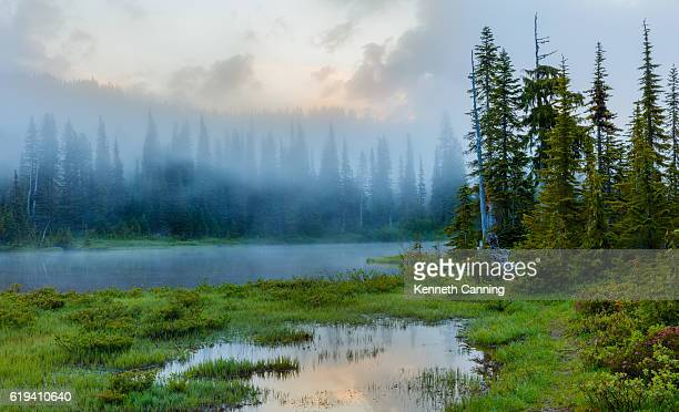 Reflection Lake at Sunrise, Mt Rainier National Park, Washington