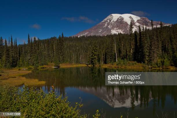 reflection lake - spiegelung stock pictures, royalty-free photos & images