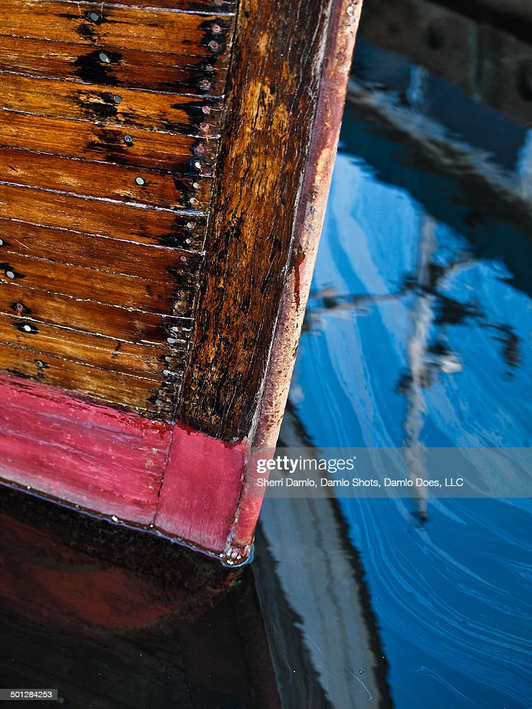 Reflection of a boat : Stock Photo