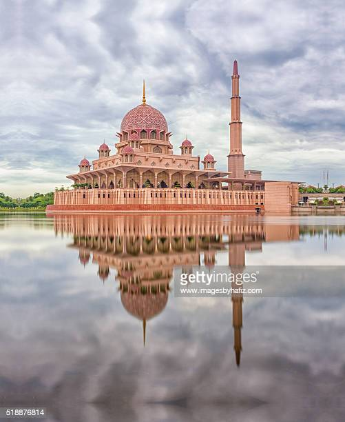 Reflection of a Mosque and clouds