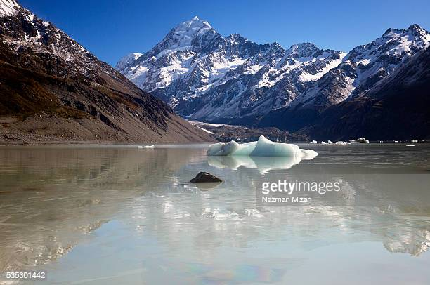 Reflection of a mountain peak.