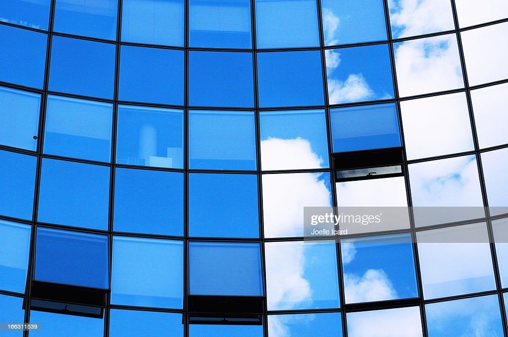 Reflection of a summery sky : Stock Photo