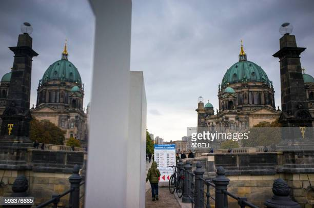 A reflection of Berlin cathedral