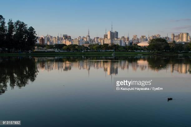 Reflection Of Buildings In City