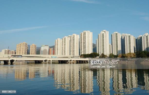 reflection of buildings in water - lucinda lee stock photos and pictures