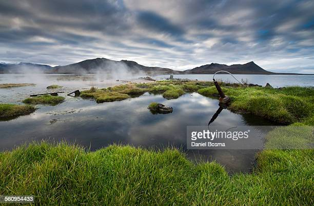 reflection of cloud formations, iceland - peninsula stock pictures, royalty-free photos & images