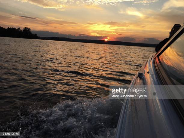 reflection of clouds in sea at sunset - st. albans stock pictures, royalty-free photos & images