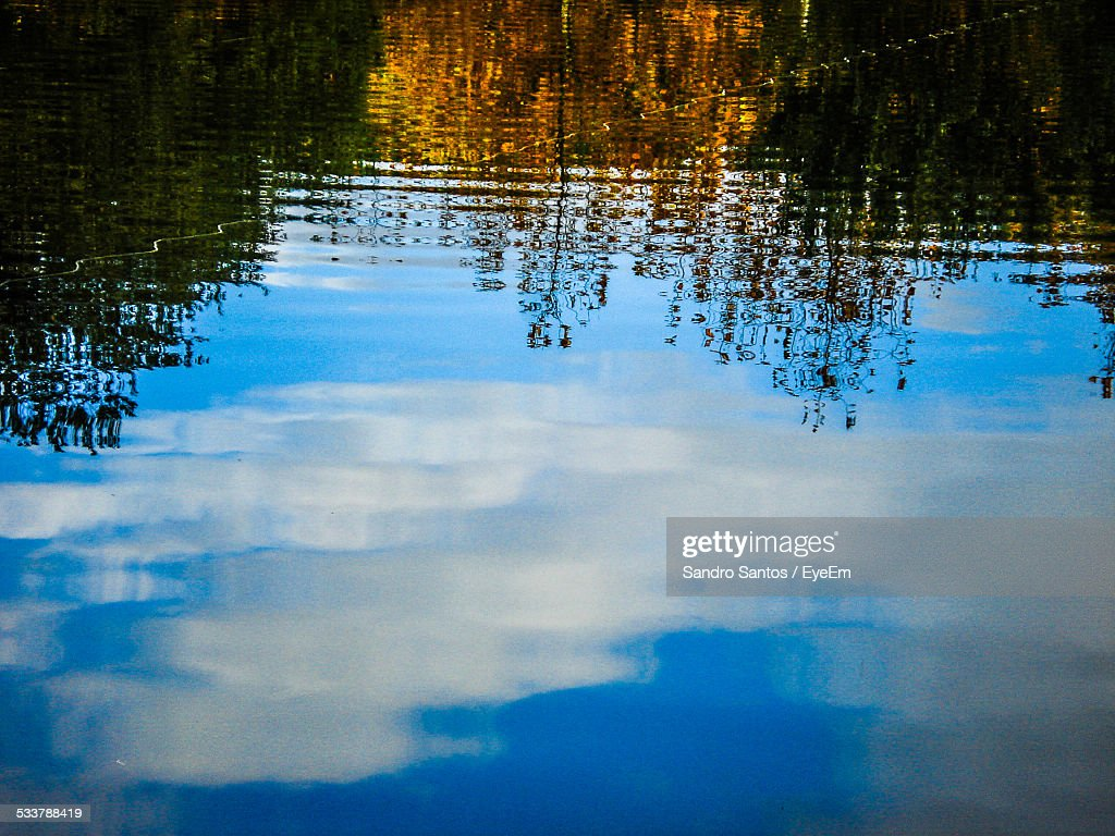 Reflection Of Clouds On Water : Foto stock
