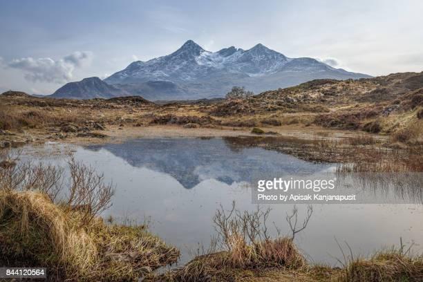 Reflection of Cuillin mountains, Sligachan , Isle of Skye, Scotland