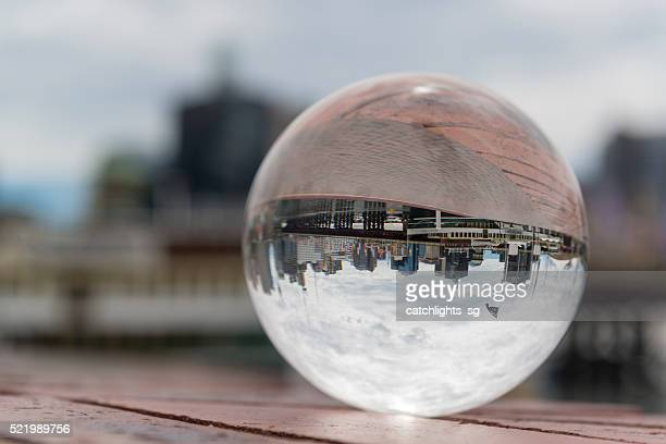 Reflection of Darling Harbour in a Crystal Ball