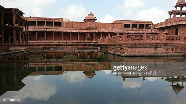 Reflection Of Fort On Pond