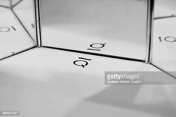 Reflection Of Iq On Glass