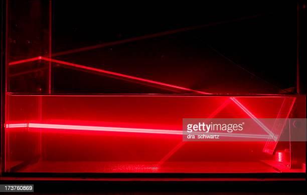 Reflexion von laser beam im Wasser
