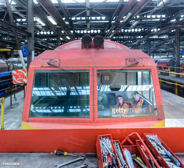 Reflection of locomotive engineers in train works