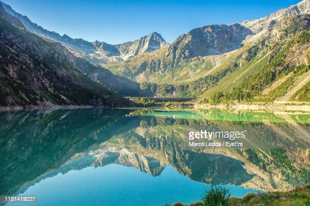 Reflection Of Mountains In Lake
