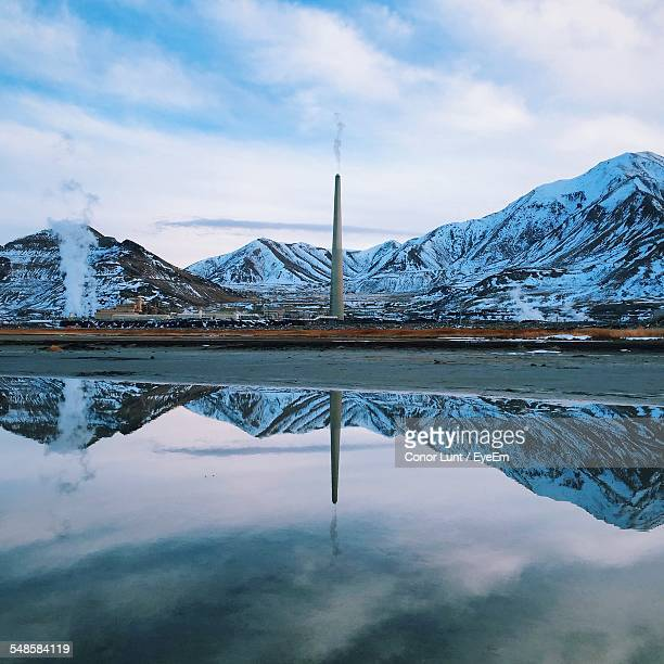 reflection of mountains - conor stock pictures, royalty-free photos & images