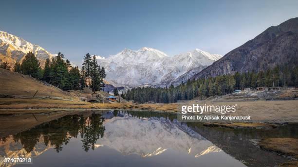 Reflection of Nanga Parbat, Fairy Meadows, Gilgit-Baltistan, Pakistan