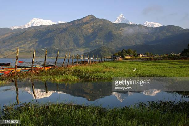 Reflection of Pokhara, Nepal