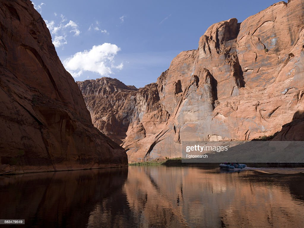 Reflection of rocks in water : Stock Photo