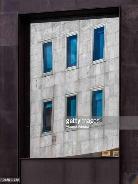 Reflection of six windows