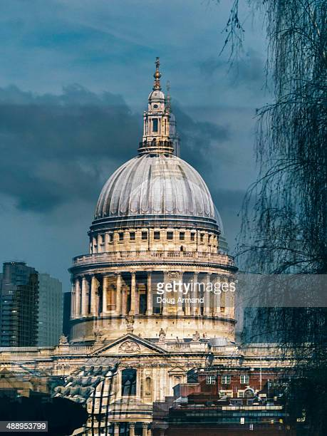 Reflection of St Paul's Cathedral in window