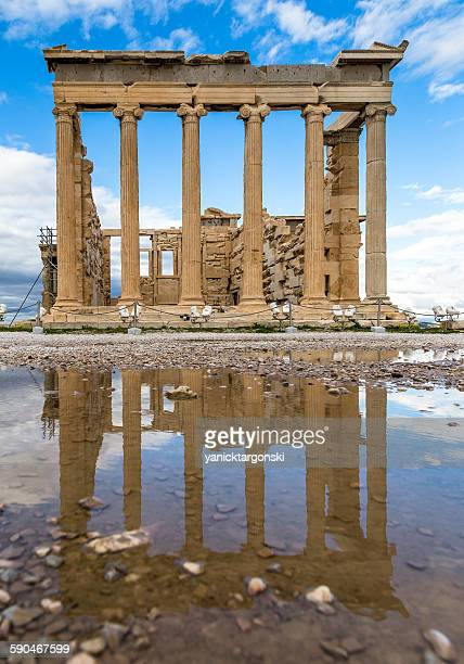 Reflection of the acropolis, Athens, Greece