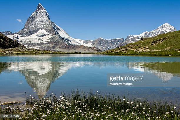 CONTENT] Reflection of the Matterhorn taken in a small lake near Riffelberg